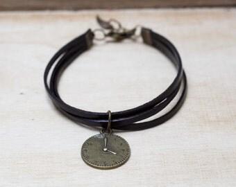 Brown Leather Bracelet  Women Leather Bracelet ,