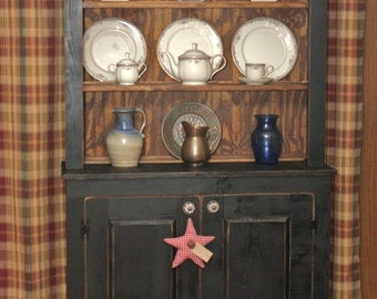 Hutch, China, FREE SHIPPING, Shabby Chic, Cottage Chic, Distressed, Country, Primitive, Rustic