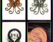 CUSTOMIZABLE Octopus ear cuff