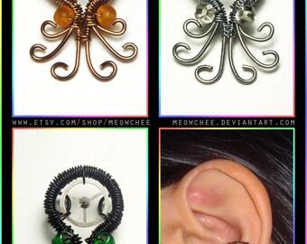 CUSTOMIZABLE Octopus ear cuff