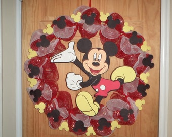 Large Mickey Mouse Clubhouse Decomesh Wreath