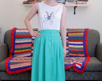 Vintage maxi green skirt