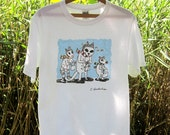 Inventory clearance sale: Three critters giggling-white ring spun cotton t-shirt