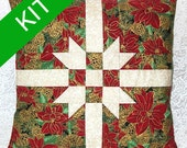 """Holiday Pillow Kit, """"Gift Wrap"""" Pattern, 16"""" square"""