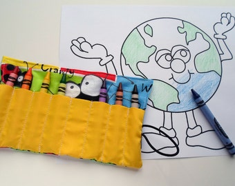 Crayon Roll -- Bugs! -- Great Party Favors