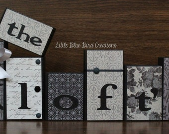 Personalized family name wood blocks - family sign - wood letters - wood sign - wood home decor - wood block set