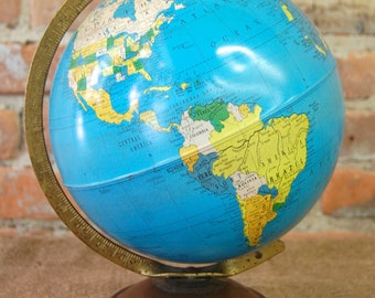 Vintage Mid-Century Replogle World Globe
