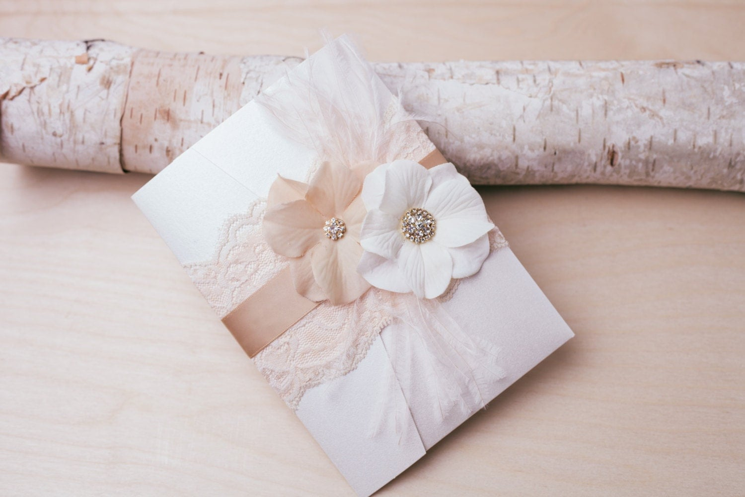 10 off vintage glamour lace wedding invitation blush and