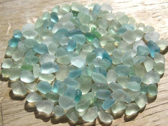 Bulk sea glass beach glass craft supplies seafoam blue for Craft mosaic tiles bulk