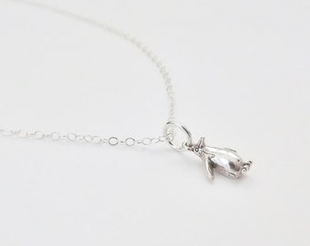 Silver Penguin Necklace - Sterling Silver