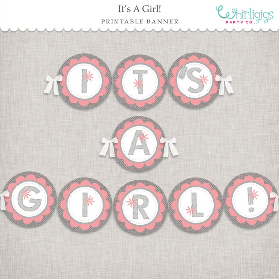 Its A Girl Banner Template It's A Girl...