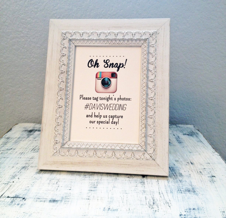 Instagram Wedding Hashtag: 8x10 Oh Snap Instagram Wedding Sign By TexasFarmersDaughter