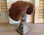 Fur Hat Vintage Fur Head Piece
