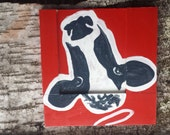 Holy Cow Wall Art. Handpainted on Salvaged wood.