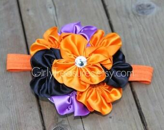 Halloween Flower Headband. Baby Headband. Girl Headband. Women Headband. Photo Prop.