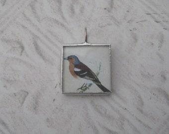 Soldered Glass Pendant/Charm - Bird