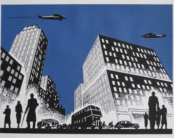 Metropolis - limited edition screenprint