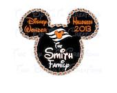 Disney Cruise Custom DIY Printable Iron On Transfer or Door Magnet Disney Family Vacation Halloween Disney