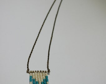 southwest inspired tiered chevron fringe necklace