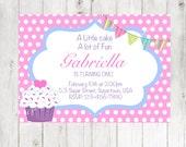 Cupcake Birthday PDF Invitation