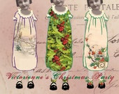 Victorienne's Christmas Party - Paper Doll - Digital Collage Sheet - Xmas Party Images - Instant Download