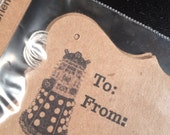 8 gift tags Doctor Who inspired Dalek doodle - DoodleButton