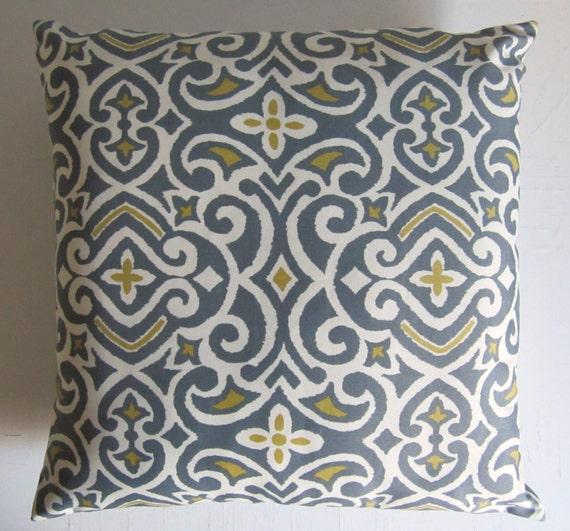 Throw Pillow Covers 26x26 : Floor Pillow Cover 26x26 Gray Ikat Throw Pillow Robert Allen