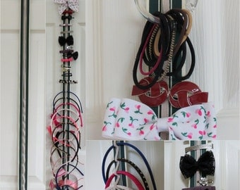 Hair Accessory Organizer - Hair Ties, Barrettes & Headbands with Elastic - 342 Color Combinations