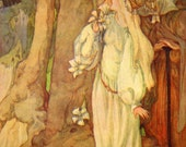 1920s PRINCESS in the FOREST Art Nouveau Print by Anne ANDERSON Ideal for Framing