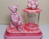 Strawberry Creme  Bear and Strawberry Pie Piglet Desk Set