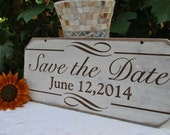 Engagement Sign, Save the Date Engagement Sign, Rustic Save The Date Sign, Photo Prop Engagement Sign Engraved Sign