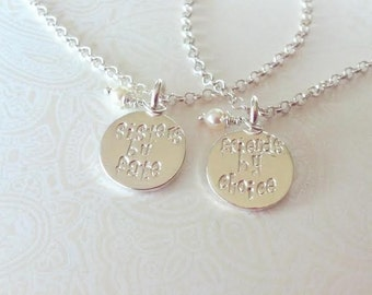 Sisters by Fate Friends by Choice--Sister Bracelet Set-Gift for Sister