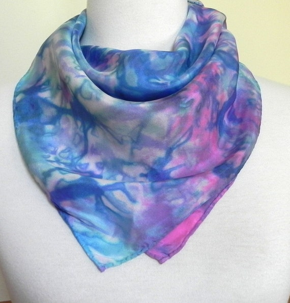 Square Silk Scarf Hand Dyed