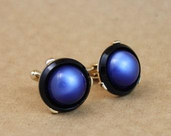 Vintage Blue Moonglow Cufflinks