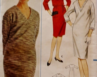 1960s Mod Sweater Dress Sewing Pattern/ Butterick 6326/ Bust 32