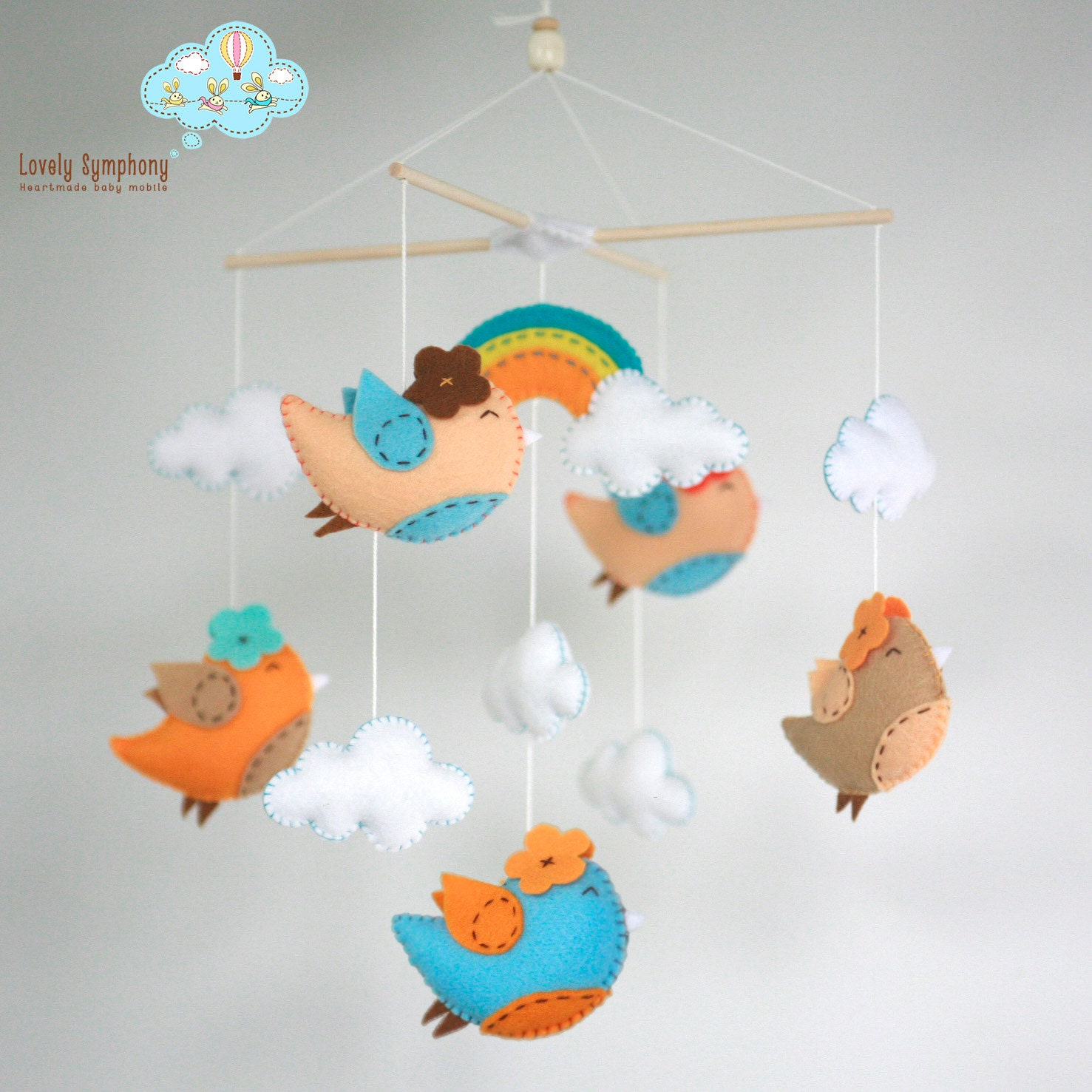 Miami Birds Birds Baby Crib Mobile Birds Hanging Mobile