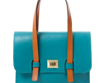 Turquiose Leather Florence Bag