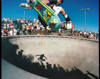 Neil Blender Ollie 80s Skateboarding Photo - J Grant Brittain Skate Photo - Skateboarding Photography Print