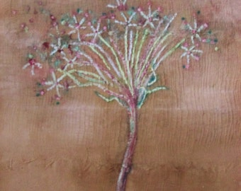 Queen Anne's Lace ' oil painting, shabby chic, rustic art on canvas