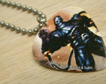 Apocolypse Guitar Pick Necklace with Stainless Steel Ball Chain