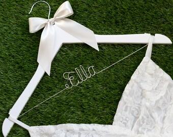 Promotion, Single Line Bride Name Personalized Wedding Hanger, Personalized Custom Bridal Hanger, Brides Hanger, Bridal Gift