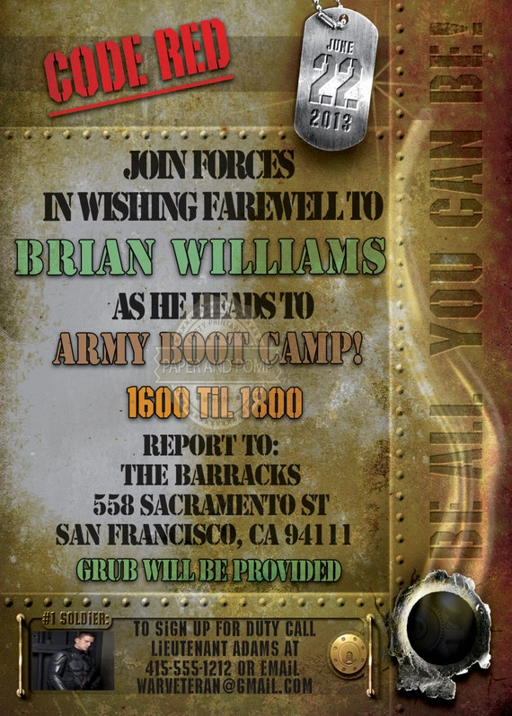 Military Retirement Party Invitations is adorable invitation sample