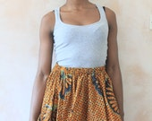 African Print, Ethnic Print Cotton Skirt