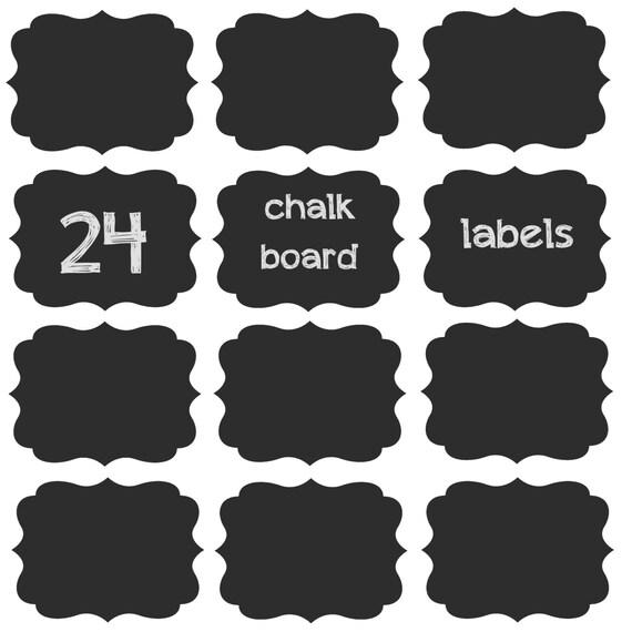 SALE!!! 24 Chalk Board Labels 3.5in x 2.5in on Adhesive Chalkboard Vinyl