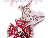 Firefighter Wife Keychain Firefighter Jewelry Personalized