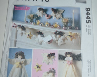 McCalls Crafts 9445 Angel Tree Topper, Wall Hanging, Ornaments and Garland Sewing Pattern - UNCUT