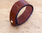 Leather wristband cuff-Brown - LarkPractical