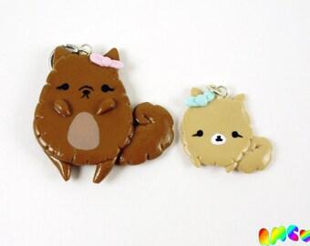 Pomeranian Necklace, Polymer Clay Dog Pendant, Pomeranian Pendant, Dog Necklace, Puppy Necklace, Kawaii Necklace