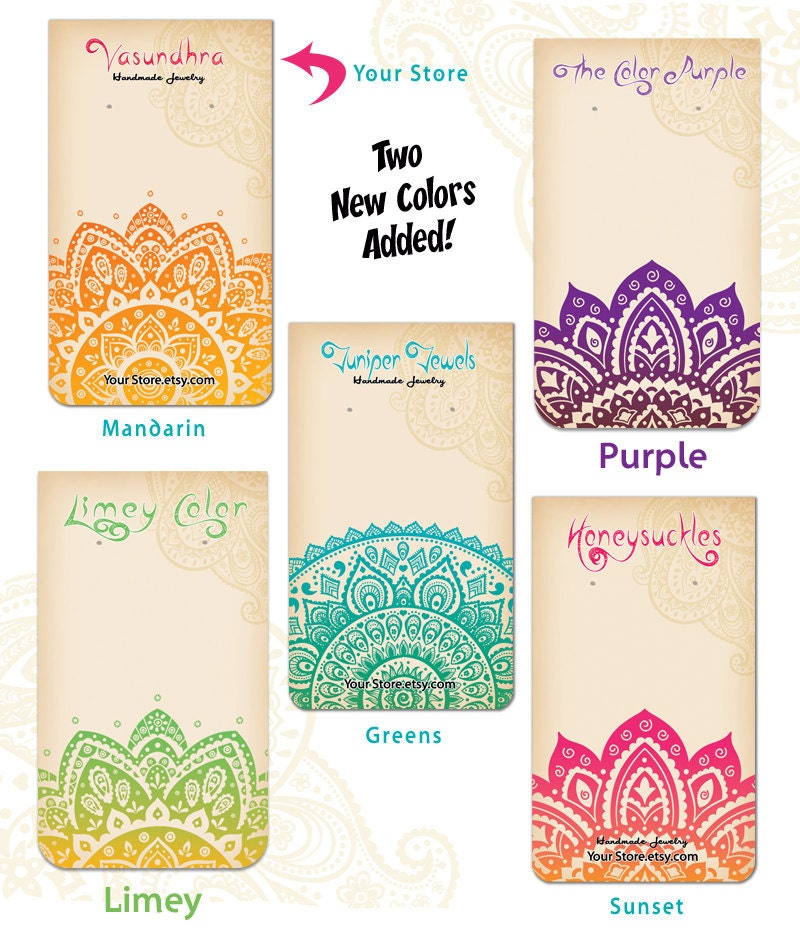 10 custom earring cards with holes the india by for Handmade jewelry business cards