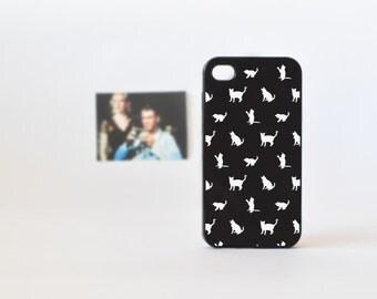 Cat iPhone 4 Case in Black - Cute Plastic iPhone Case for Girls - Black iPhone Case - Accessories for iPhone